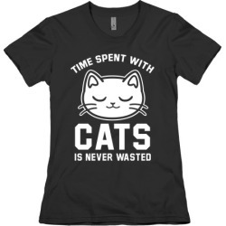 Time Spent With Cats T-Shirt from LookHUMAN