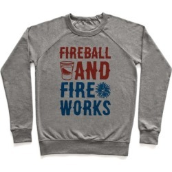 Fireball and Fire Works Pullover from LookHUMAN