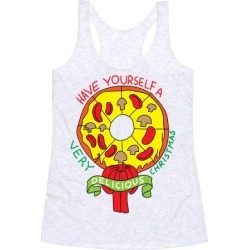 PIZZA WREATH Racerback Tank from LookHUMAN