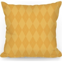 Gold Argyle Throw Pillow from LookHUMAN found on Bargain Bro India from LookHUMAN for $32.99
