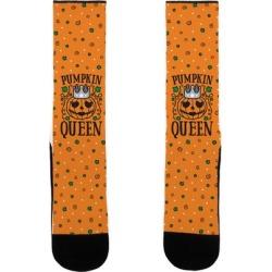 Pumpkin Queen Socks from LookHUMAN