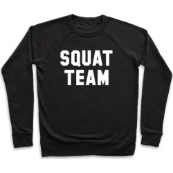 Squat Team Pullover from LookHUMAN