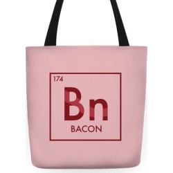 Bacon Periodic Element Tote Bag from LookHUMAN found on Bargain Bro Philippines from LookHUMAN for $24.99