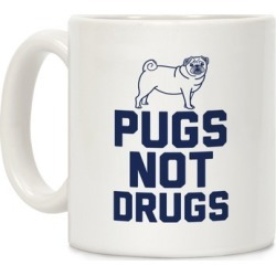 Pugs Not Drugs Mug from LookHUMAN