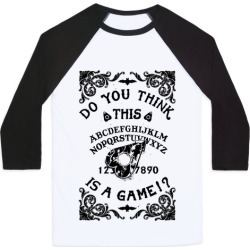 Do You Think This Is A Game!? Baseball Tee from LookHUMAN