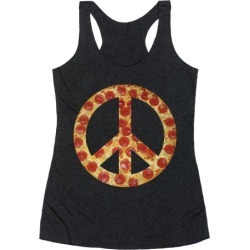 Peace Of Pizza Racerback Tank from LookHUMAN