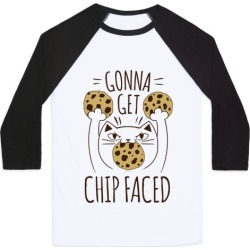 Gonna Get Chip Faced Baseball Tee from LookHUMAN
