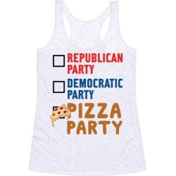 Pizza Party Racerback Tank from LookHUMAN