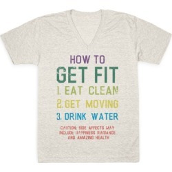 How to Get Fit V-Neck T-Shirt from LookHUMAN