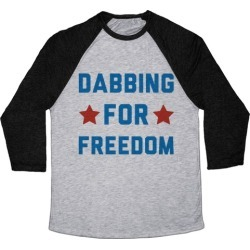 Dabbing For Freedom Baseball Tee from LookHUMAN