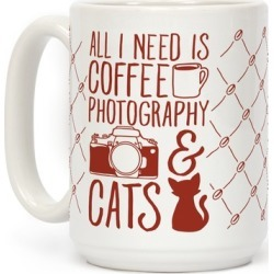 All I Need is Coffee, Photography, and Cats Mug from LookHUMAN found on Bargain Bro Philippines from LookHUMAN for $17.99