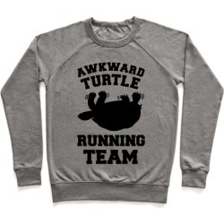 Awkward Turtle Running Team Pullover from LookHUMAN