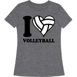 I Love Volleyball T-Shirt from LookHUMAN