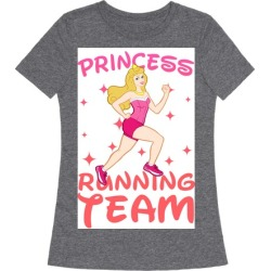 Princess Running Team (Pink) T-Shirt from LookHUMAN