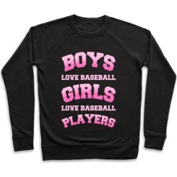 Boys and Girls Love Baseball Pullover from LookHUMAN