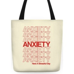 Anxiety Thank You Bag Parody Tote Bag from LookHUMAN