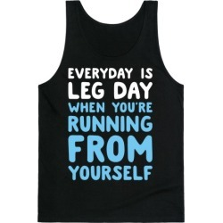 Running From Yourself Tank Top from LookHUMAN