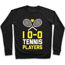 I Love Tennis Players Pullover from LookHUMAN