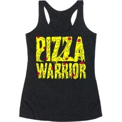 Pizza Warrior Racerback Tank from LookHUMAN