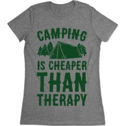 Camping It's Cheaper Than Therapy T-Shirt from LookHUMAN