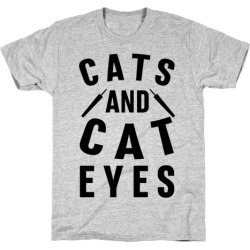 Cats and Cat Eyes T-Shirt from LookHUMAN