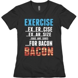 Eggs are Sides...For Bacon! T-Shirt from LookHUMAN found on MODAPINS from LookHUMAN for USD $21.99
