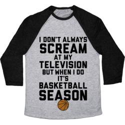 Basketball Season Baseball Tee from LookHUMAN