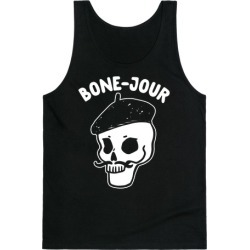 Bone-Jour Tank Top from LookHUMAN