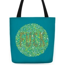 Color Blind Test ( F*** ) Bag Tote Bag from LookHUMAN