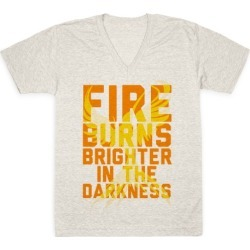 Fire Burns Brighter V-Neck T-Shirt from LookHUMAN