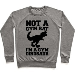 Not A Gym Rat I'm A Gym Dinosaur Pullover from LookHUMAN
