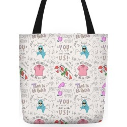 Mean Girls Doodle Pattern Tote Bag from LookHUMAN found on Bargain Bro India from LookHUMAN for $24.99