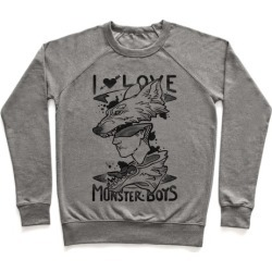 I Love Monster Boys Pullover from LookHUMAN