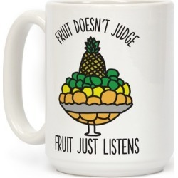 Fruit Doesn't Judge Mug from LookHUMAN found on Bargain Bro from LookHUMAN for USD $13.67
