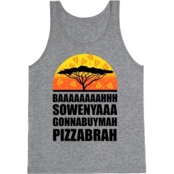 Gonna Buy Mah Pizza Brah Tank Top from LookHUMAN