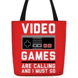 Video Games Are Calling Tote Bag from LookHUMAN found on GamingScroll.com from LookHUMAN for $24.99