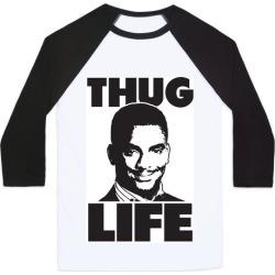 Thug Life Carlton Baseball Tee from LookHUMAN