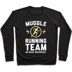 Muggle Running Team - No Magic Necessary Pullover from LookHUMAN