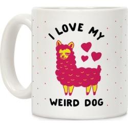 I Love My Weird Dog Mug from LookHUMAN