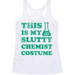 This is My Slutty Chemist Costume Racerback Tank from LookHUMAN found on Bargain Bro Philippines from LookHUMAN for $25.99