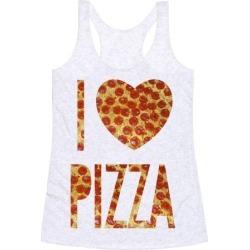 I Heart Pizza Racerback Tank from LookHUMAN