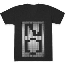 Nope Ascii Art V-Neck T-Shirt from LookHUMAN found on Bargain Bro Philippines from LookHUMAN for $27.99