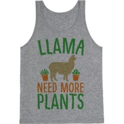 Llama Need More Plants Tank Top from LookHUMAN