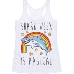 Shark Week Is Magical Parody Racerback Tank from LookHUMAN