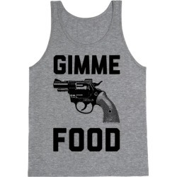 Gimme Food Tank Top from LookHUMAN