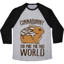 Cinnabunny Too Pure For This World Baseball Tee from LookHUMAN
