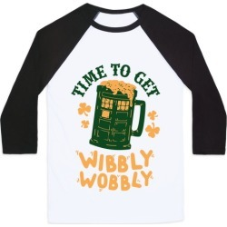 Time to Get Wibbly Wobbly Baseball Tee from LookHUMAN