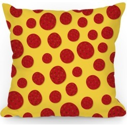Pepperoni Pizza Topping Pattern Throw Pillow from LookHUMAN