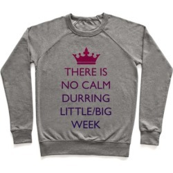 This Is No Calm Durring Little/Big Week Pullover from LookHUMAN