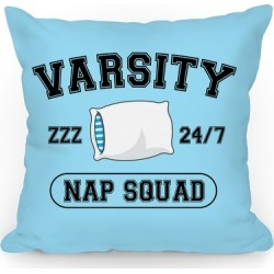 Varsity Nap Squad Throw Pillow from LookHUMAN found on Bargain Bro Philippines from LookHUMAN for $29.99